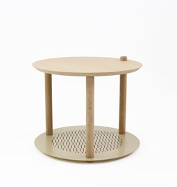 Petite table ronde by Constance - Laiton vieilli