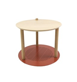 Petite table ronde by Constance - Terracotta