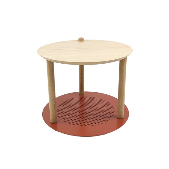 Petite table ronde by Constance - Terracotta - Design : Dizy
