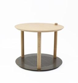 Petite table ronde by Constance - Métal brut