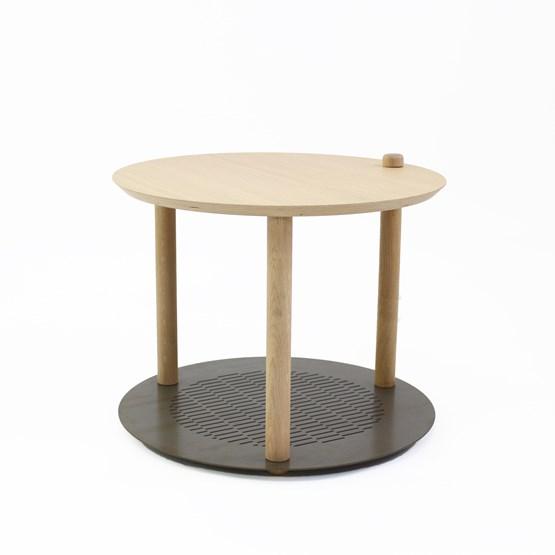 Petite table ronde by Constance - Métal brut - Design : Dizy