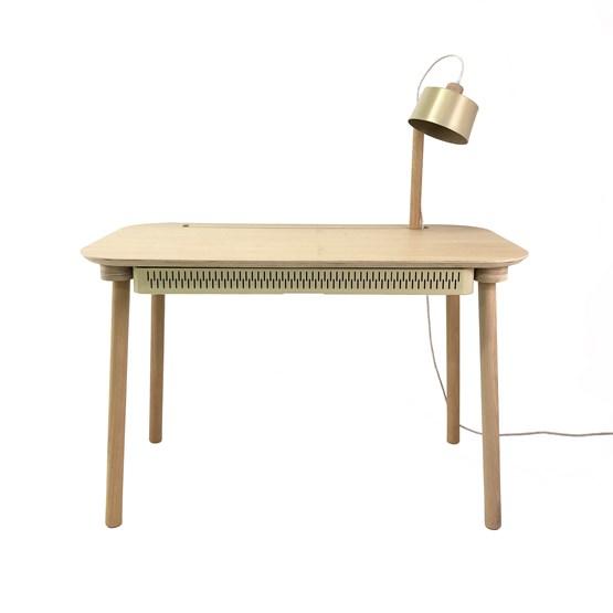 Bureau, tiroir & lampe by désiré - Laiton Vieilli - Design : Dizy