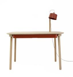 Bureau, tiroir & lampe by désiré - Métal brut