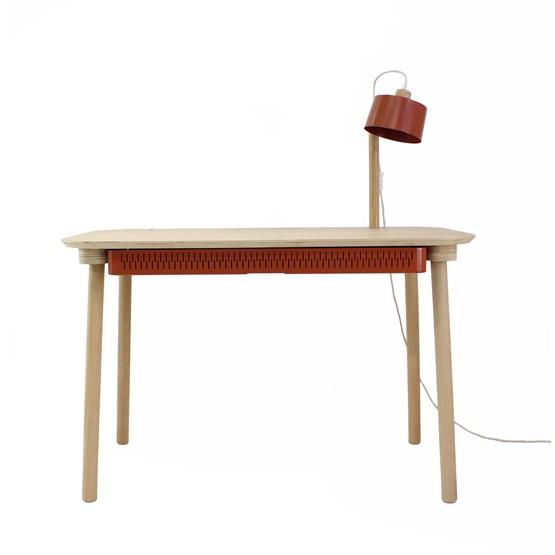Bureau, tiroir & lampe by désiré - Métal brut  - Design : Dizy