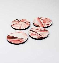 Dessous de verre DRAPÉ - Rose pâle