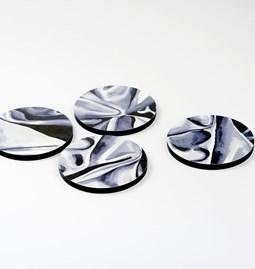 Dessous de verre DRAPÉ - Gris foncé