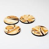 Coasters DRAPÉ - Gold yellow 4