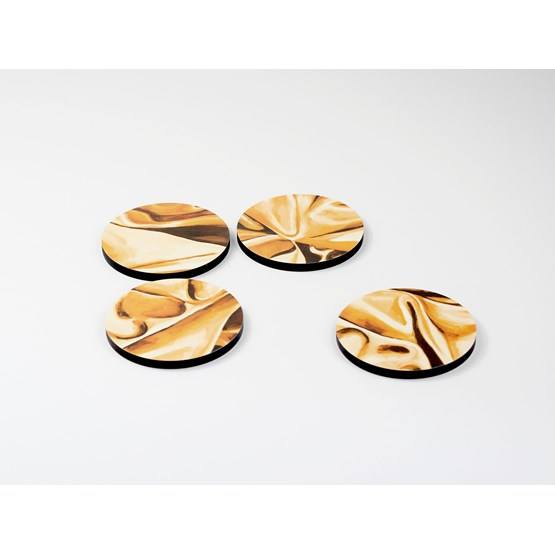 Coasters DRAPÉ - Gold yellow - Design : Studio Matériel