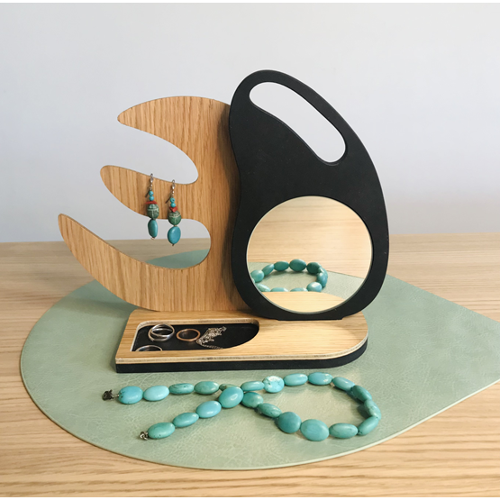 Miroir – Support à bijoux « GEM » - Design : Dikroma création