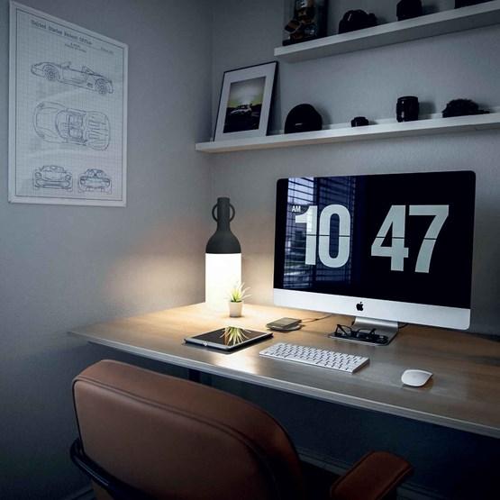 LAMPE NOMADE ELO - NOIR - Design : Bina Baitel