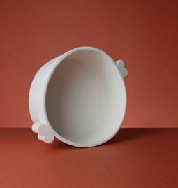 Plat de service profond en céramique - UltraBold - blanc