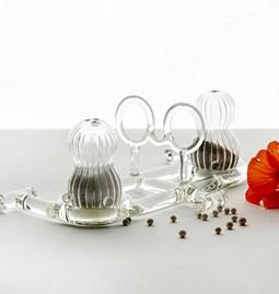 Salière et poivrière - Sio2 - verre