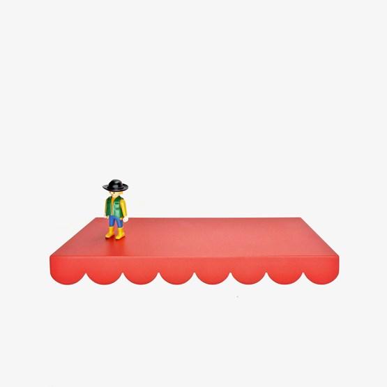 Etagère CAKE rouge corail - Designerbox - Design : Jean Couvreur