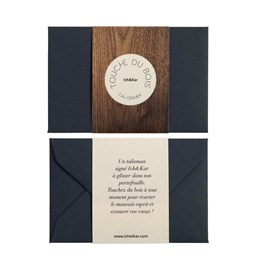 Carte Talisman Touche du bois - noir