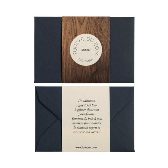 Carte Talisman Touche du bois - noir - Design : ICH&KAR