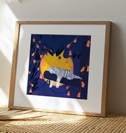 Illustration Tiger Sleep