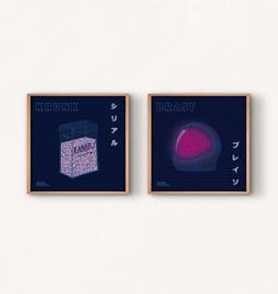 Cosmos Set (2 illustrations)