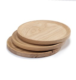 BEST plate - set of 3 circle ash plates in cold oil coating