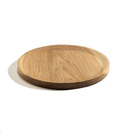 BEST plate - set of 3 circle oak plates in warm oil coating