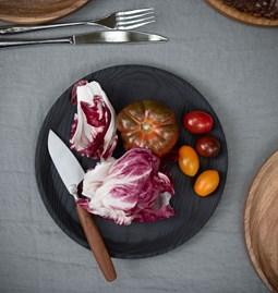 Assiette BEST set de 3 assiettes - bois brulé