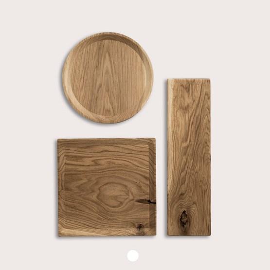 BEST plate - set of 3 long oak plates in warm oil coating - Design : TU LAS