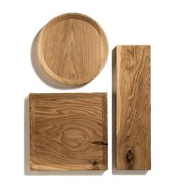 BEST plate - set of 3 long oak plates in warm oil coating