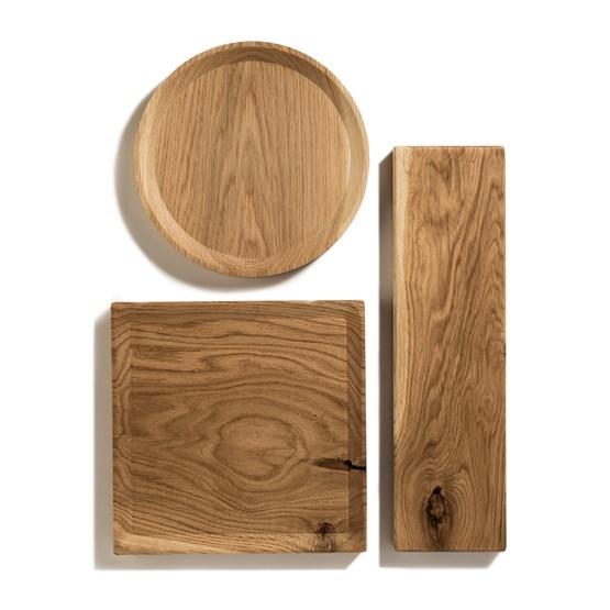 Assiette BEST set de 3 longues assiettes -  chêne  - Design : TU LAS