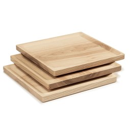 BEST plate - set of 3 square ash plates in cold oil coating