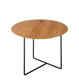 Oak 01 Side Table - natural oak & black metal