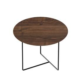 Walnut 01 Side Table - natural walnut & black metal