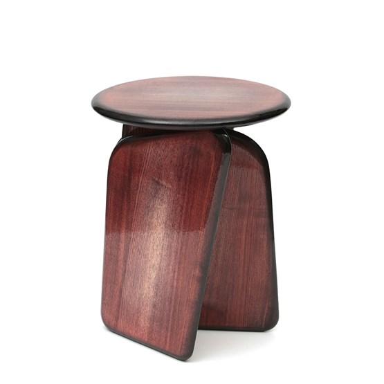 Tabouret Vent Contraire brun rouge - Design : Brichet Ziegler