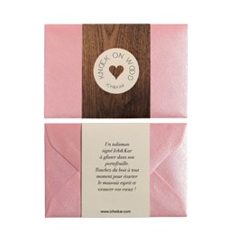 Carte Talisman Knock On Wood - rose