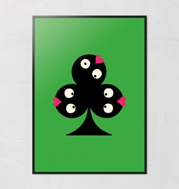 Pokerface Poster - CLOVER