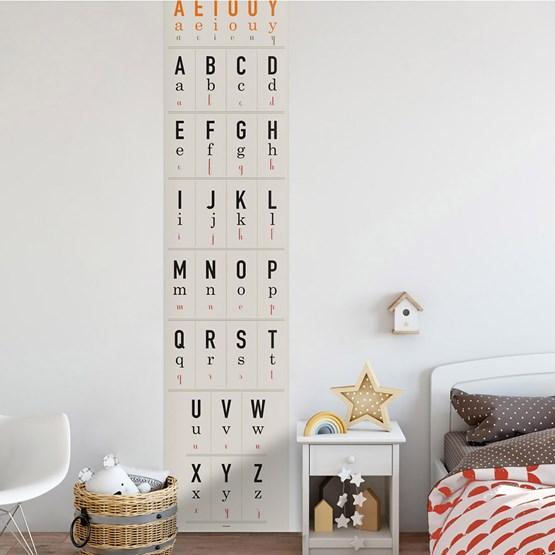 Alphabet guide wallpaper - Design : ICH&KAR