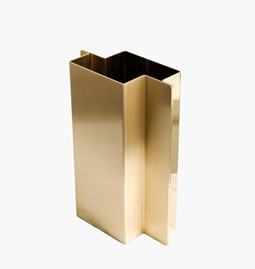 SHIFT Vase - polished and brushed brass