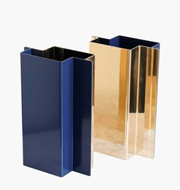 SHIFT vase - Polished Brass & Lacquered Steel