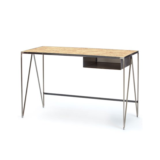 Bureau STUDY acier brut - Design : And New