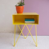 Mini table d'appoint ROBOT -  jaune  3