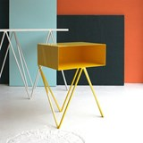 Mini table d'appoint ROBOT -  jaune  2