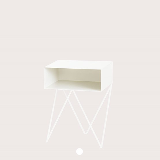 Mini table d'appoint ROBOT - blanc - Design : And New