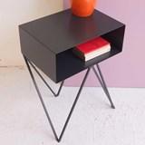 Mini table d'appoint ROBOT noire 4