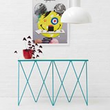 Turquoise GIRAFFE console table  3