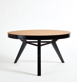 SPOT coffee table - black steel and wood