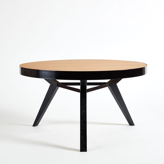 Table basse SPOT noire et bois - Design : NEUVONFRISCH