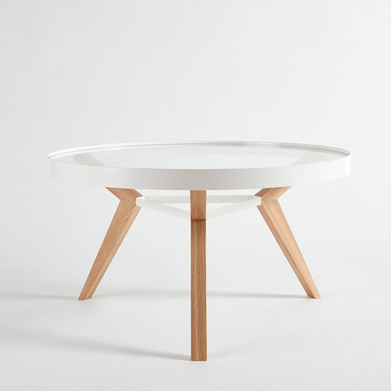 Table basse SPOT blanche - Design : NEUVONFRISCH