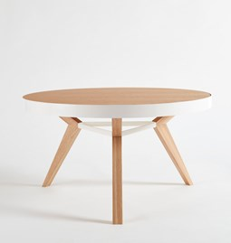 SPOT coffee table - white steel and wood