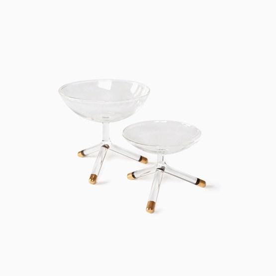 GOLDEN TRIPOD glass bowls - Designerbox - Design : Maarten Baptist