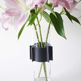 Vase ENGRENAGE - noir 2