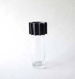 Vase ENGRENAGE noir