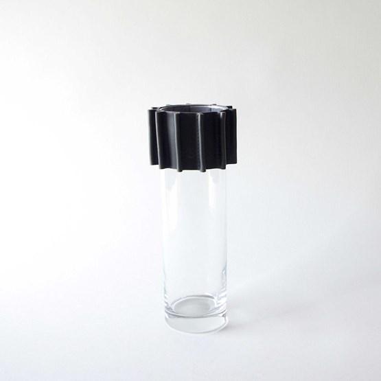 Vase ENGRENAGE - noir - Design : Laëtitia Fortin